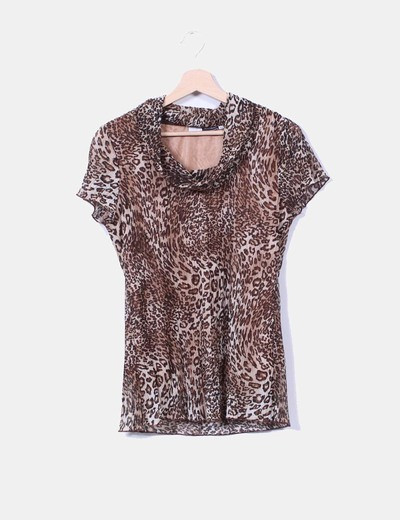 Blusa estampada animal print NoName