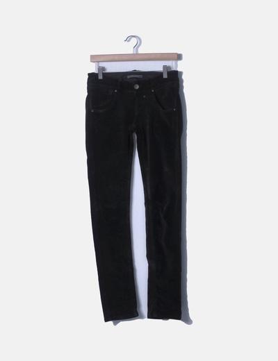 Pantalón velvet negro