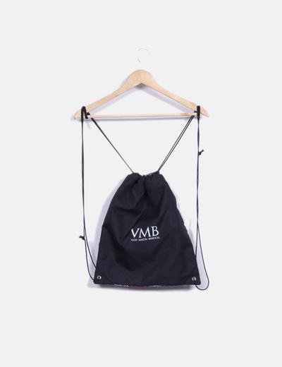 Saco mochila estampada