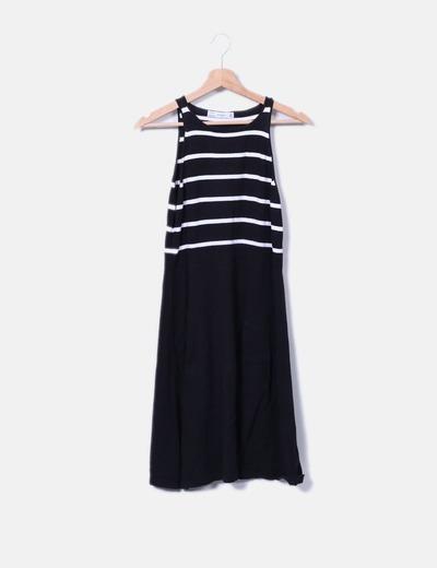 Vestido de punto con rayas Zara