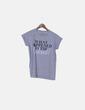 Camiseta gris jaspeada con mensaje Primark