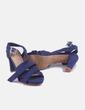 Sandalia de tacón azul marina Marypaz