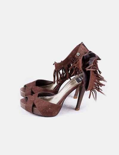 Sandales marron frangées Mariamare