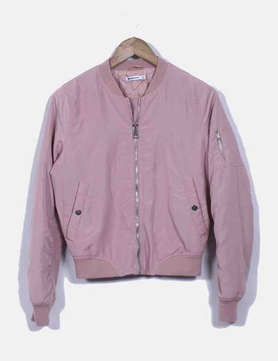 Chaqueta bomber rosa