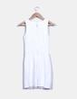 Vestido pichi blanco escote drapeado Mango