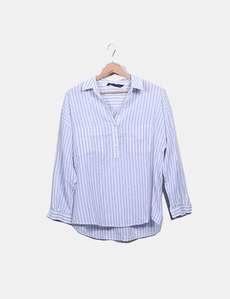 6dfc35740139f Camisa rayas azul y blanca Zara