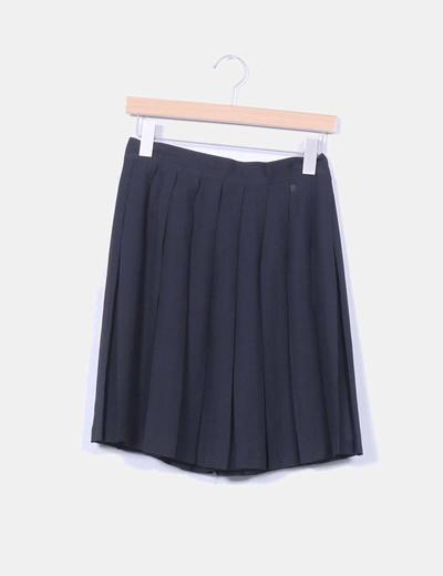 Falda negra con tablas Arregui Fashion