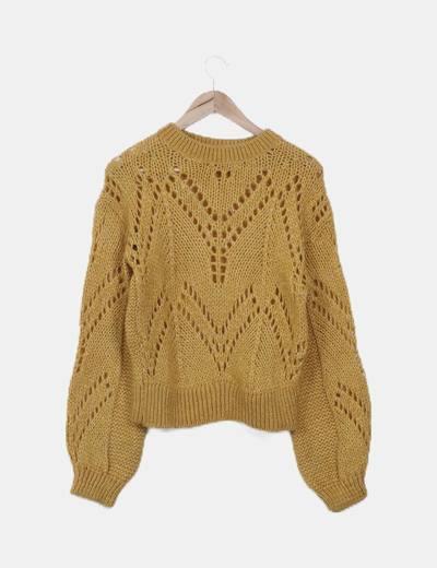 Jersey punto lana amarillo mostaza