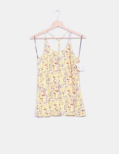 Camiseta amarilla floral Ocran Sanabu
