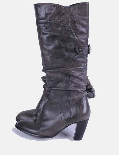 Bota alta gris Zara