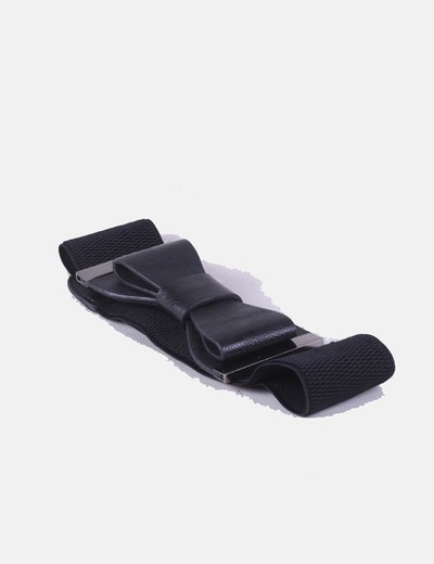 Cinturón elástico negro lazo NoName