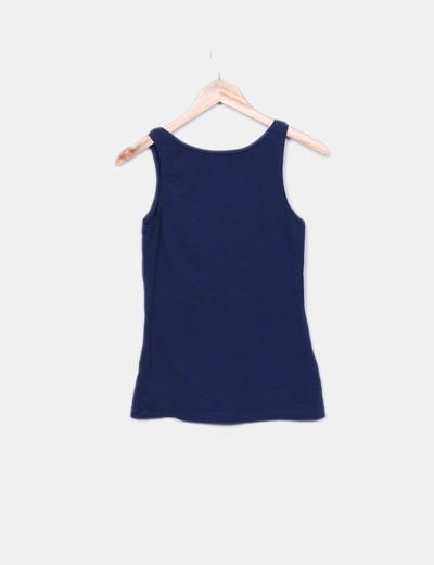 Camiseta de tirantes basica azul