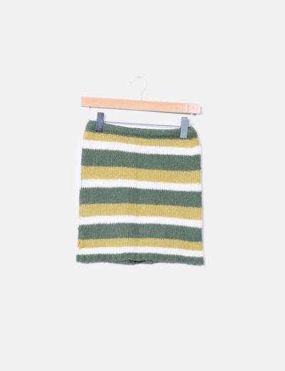 Top corto verde de rayas Vero Moda