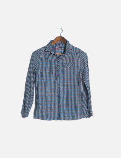 Camisa cuadros multicolor manga larga