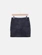 Minifalda negra polipiel texturizada Mango