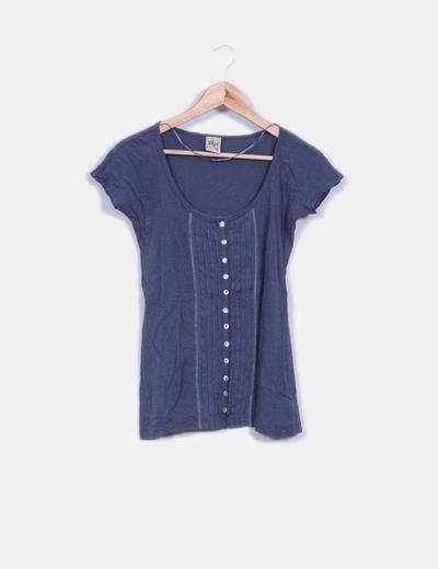 Camiseta manga corta detalle tablas centrales y botonera XDYE