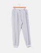 Pantalón ancho fino gris Benetton
