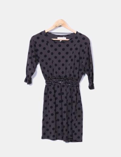 Vestido cintura de crochet Zara