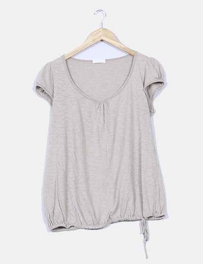 Camiseta beige Promod