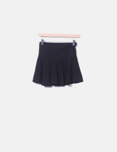 Mini falda negra evasé NoName