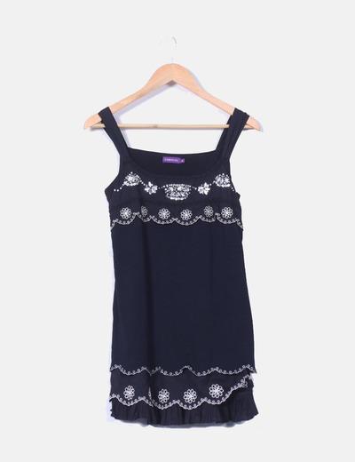 Mini vestido con detalle brillante  Cortefiel