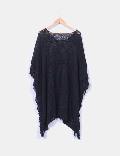Vestido negro calado NoName