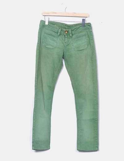 Calça verde sdesgastados Desigual