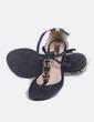 Sandalia negra con detalles gold Beira rio