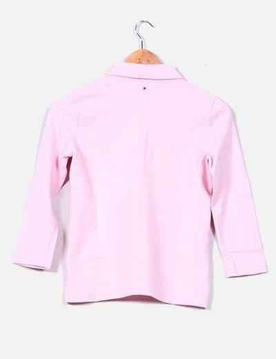Polo rosa claro de media manga
