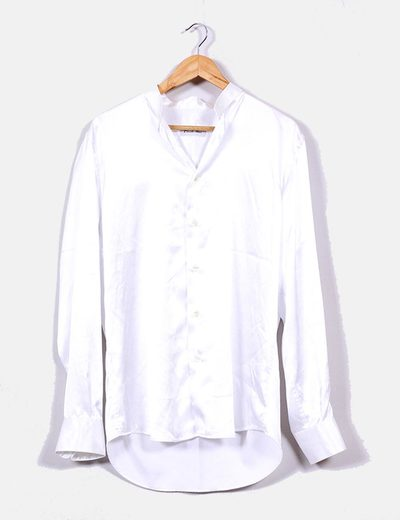 Camisa tela brillante blanca Emidio Tucci