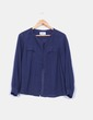 Blusa azul marina cierre central Pepe Jeans