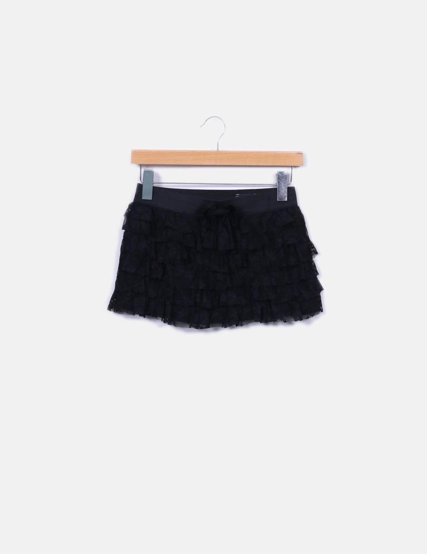 765b17c754a Faldas encaje negra volantes baratas Falda Zara de online xCRqwC7X6t ...
