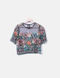 Blusa estampado floral semitransparente NoName