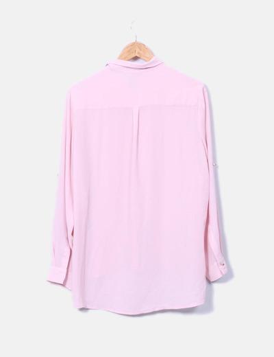 Blusa rosa manga larga
