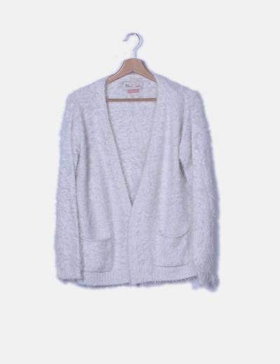 Cardigan tricot peluche