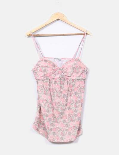 Top tirantes floreado  Pull&Bear