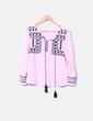 Blusa rosa con estampado étnico NoName