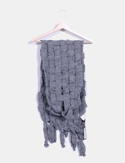 Bufanda trenzada gris Vero Moda