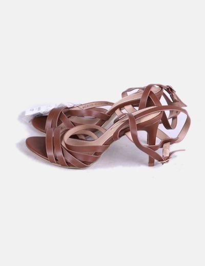 Sandales marron avec brides Suiteblanco