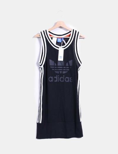Vestido deportivo rejilla negro Adidas