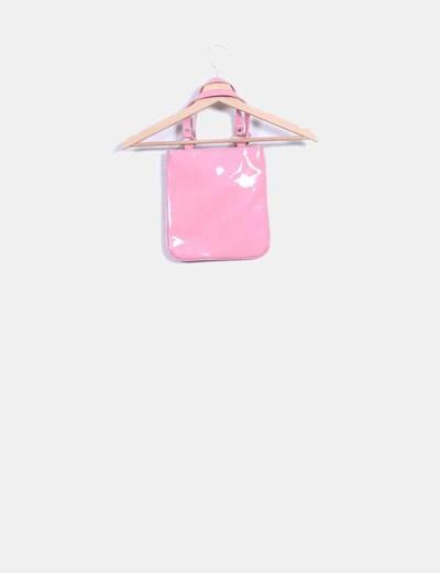 Bolso rosa acharolado