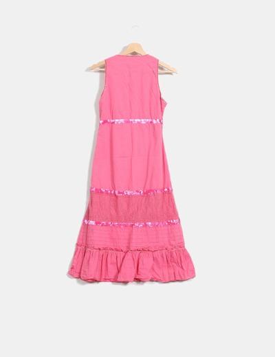 Vestido rosa con paillettes