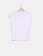 Camiseta básica rosa ballet detalle fruncido Women'secret