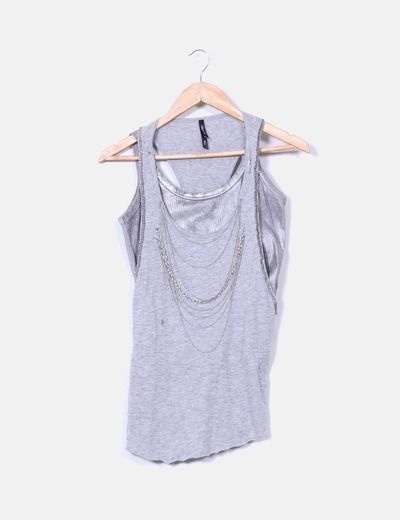 Conjunto camisetas plata Bershka