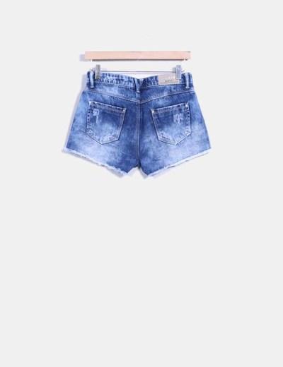 diseño de calidad 98f67 914a0 Pantalones cortos denim con rotos