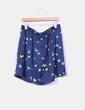 Mini falda satinada azul marino Trucco