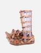 Sandalias romanas bordados étnicos Anna