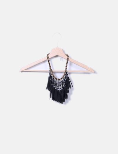 Collar combinad con flecos NoName