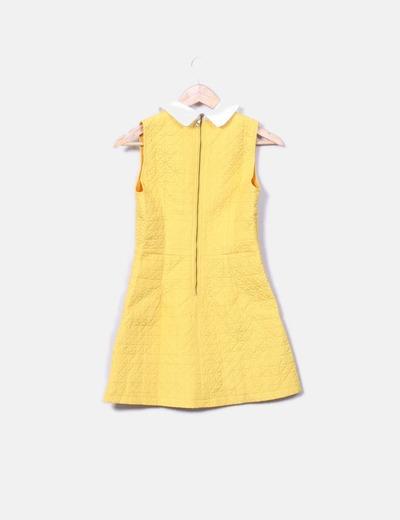 Vestido amarillo acolchado print nina