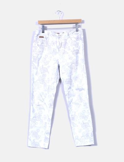 Pantalón blanco estampado Swallow